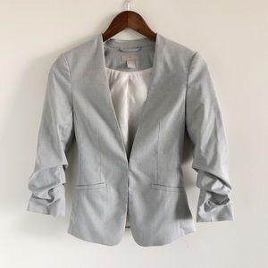 H&M Scrunch Sleeve Blazer Jacket Gray 0 Work